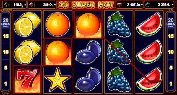 20 Super Hot - Jocuri Aparate Pacanele
