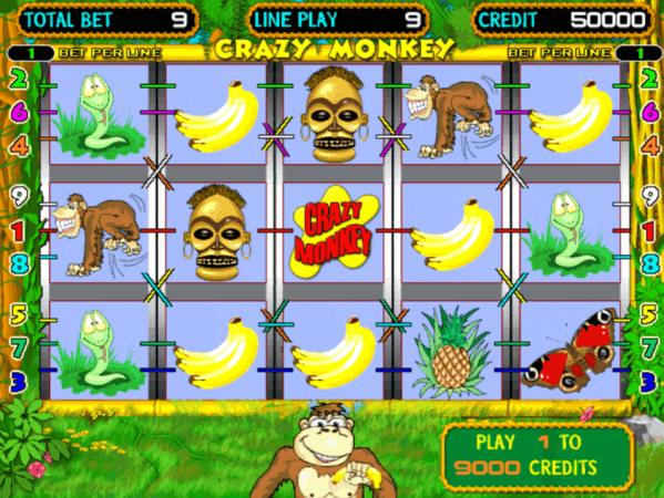 Crazy Monkey cu Maimute - Jocuri Aparate Pacanele