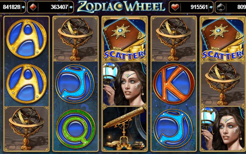 Zodiac Wheel - Pacanele cu simboluri astrologice